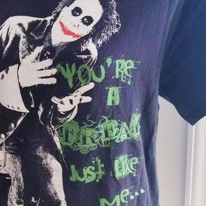 Joker Dark Knight DC Comic T-shirt  Medium